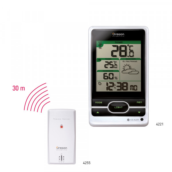 Preview: Wireless weather station with frost warning function